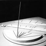 Projet pour le Rond Point Croix Rouge . Avignon. 1986. Modèle réduit plâtre.