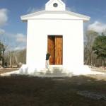 Façade de l'oratoire. Jean-Charles Pigeau. Baca. Yucatan. Mexique