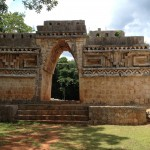 Labna. Ruta Puuc. Site préhispanique yucatèque. Mexique.