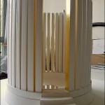 """""""Aube 3"""". Plâtre et feuille d'or. Hauteur 50 cm. Diamètre 45 cm"""