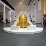 Exposition septembre 2013 « Dialogue – Retour en Chine » Akade  in Left Right International art Zone of Fuhao. Songzhuang. Beijing. Curator Tian Ye. Sculpture produite par la fondation d'entreprise Hermès.