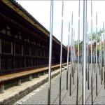 Pluie céleste. 2010. Image de synthèse pour le Temple Sanjusangendo