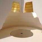 Axis mundi 2008-09 projet pour le Templo Mayor. Mexico. Modèle réduit. Plâtre, feuille d'or et miroir. Hauteur 40 cm. Diamètre base 46 cm
