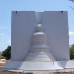 Vue postérieure de l'oratoire. JC Pigeau. Baca.Yucatan. Mexique