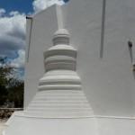Sculpture du Bouddha réalisée en Masaroca; ciment à structure fermée