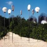 Les conques sur le chemin de la méditation. Centre Tjibaou. 2002