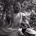 Sculpture en bronze. Bouddha japonais. Musée Guimet. Sténopé 2005 Inversible Scala 4 x 5 inches