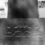 Garden of Confucius. Sculpture/arbre Beijing 2012. Sténopé. Papier baryté 4 x 5 inches