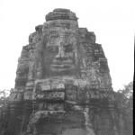 Tour tête. Le Bayon. Cambodge. 2014. Sténopé