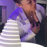 Kai avec Akade. Sculpture concept de l'espace de méditation réalisé avec la Fondation d'Entreprise Hermès en 2011. Exposition à la Verrière curatrice Alice Morgaine