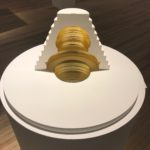 Akade. Sculpture concept de l'espace de méditation réalisé avec la Fondation d'Entreprise Hermès en 2011. Exposition à la Verrière curatrice Alice Morgaine