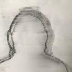 Présence/Absence 2016.  Fusain sur papier Ingres 65 x 50 cm