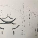 Pagode Dehua 2017. Fusain sur Ingres 65 x 50